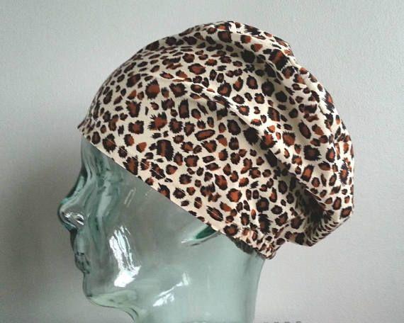 Leopard Print Elastic Back Scrub Hat Scrub hats scrub caps