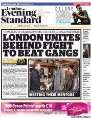 London Evening Standard Newspaper Front Page (UK) for 19 October 2013
