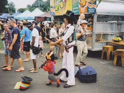 Puppeteer at the Bangalow Markets Australia