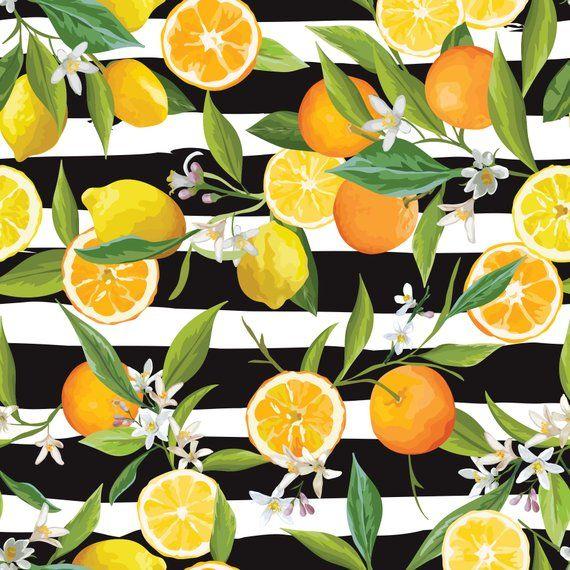 Lemon And Mint Wallpaper Peel And Stick Wallpaper Fruit Etsy Mint Wallpaper Lemon Painting Mural Wallpaper