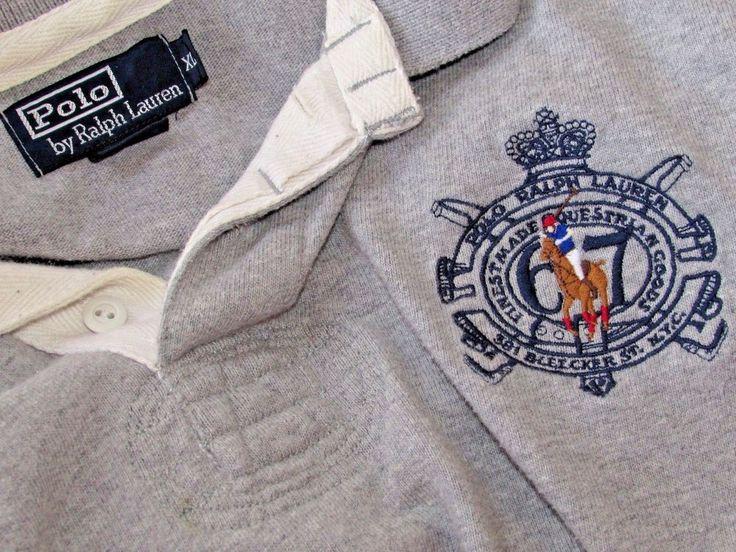 "Polo Ralph Lauren mens Shirt XL XXL Rugby L/S Big Pony Logo '67 54""C Vintage VTG #PoloRalphLauren #PoloRugby #Casual"