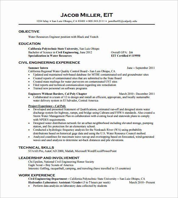 Civil Engineer Intern Resume Elegant Civil Engineer Career Goals Civil Engineers Jobs Career Engineering Resume Templates Engineering Resume Internship Resume