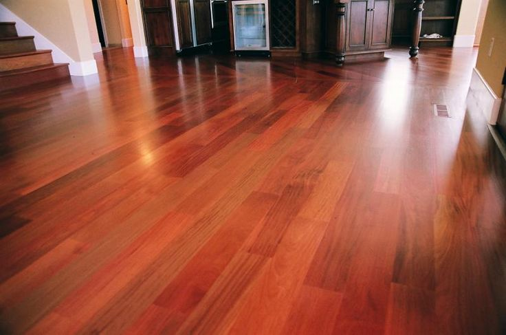 Unfinished Santos Mahogany Floor