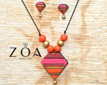 Handcrafted ZOA's Terracotta Jewelry Terracotta by ZoaJewellery