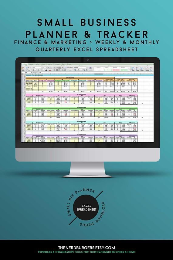 Small business planner income tracker productivity planner