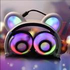 LED light Bear Ear Headphones Cosplay Gaming Fashion Headsets Kids Children Gift