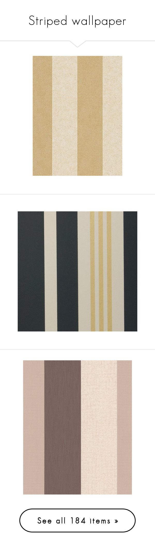 """""""Striped wallpaper"""" by lacie-nicole on Polyvore featuring home, home decor, wallpaper, beige, vinyl wallpaper, beige striped wallpaper, versace wallpaper, cream wallpaper, removing vinyl wallpaper and gold striped wallpaper"""