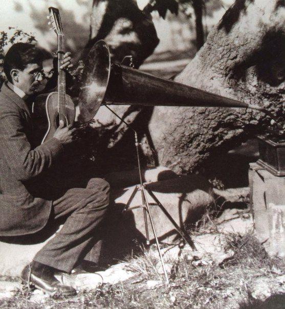 Портативная студия звукозаписи, 1904 год.