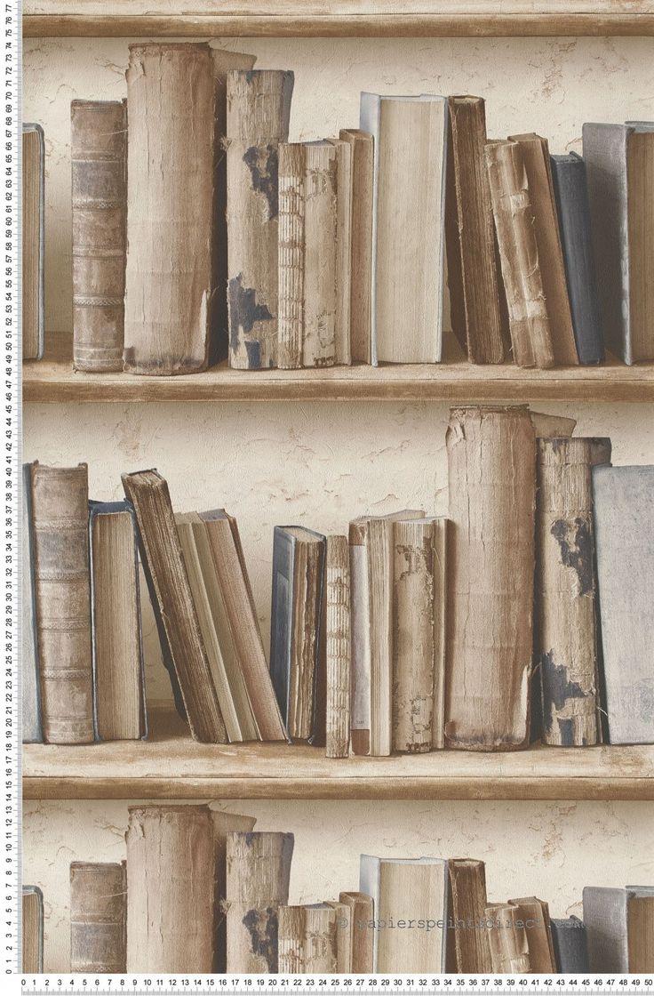 Vieux livres bleus - Papier peint Authentic de Montecolino