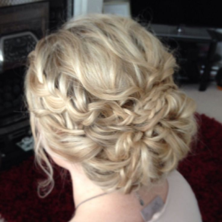 Wedding hair by Lisa cameron North East bridal braided hair up do Boho plait hairstyle idea bridesmaid hair Plaits ideas
