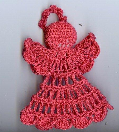 crochet Christmas angel  (50)   spinningayarn - Crochet on ArtFire