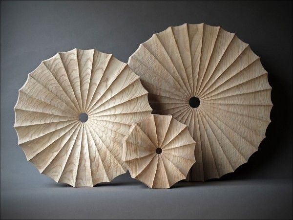 3 roues cannelées 60, 50 et 25 cm