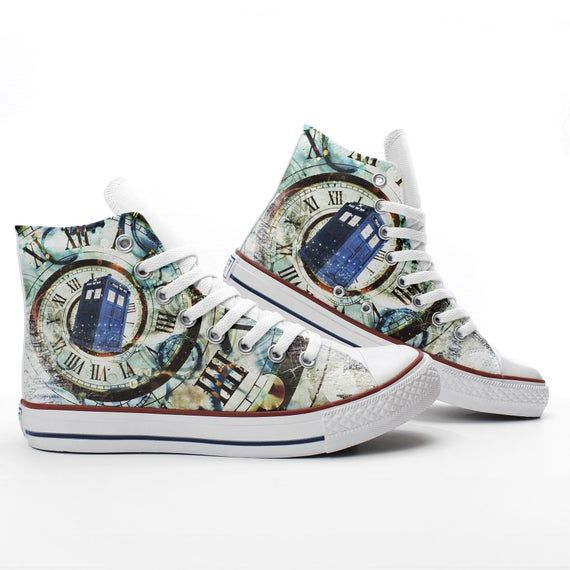 TARDIS in the Time Vortex Custom Doctor Who fan Sneakers