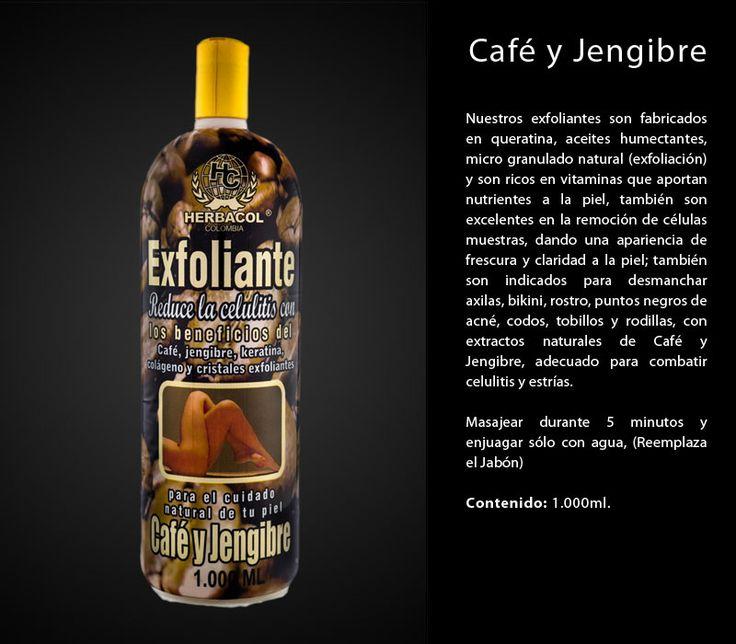 Exfoliante café y jengibre para cobatir celulitis y estrias