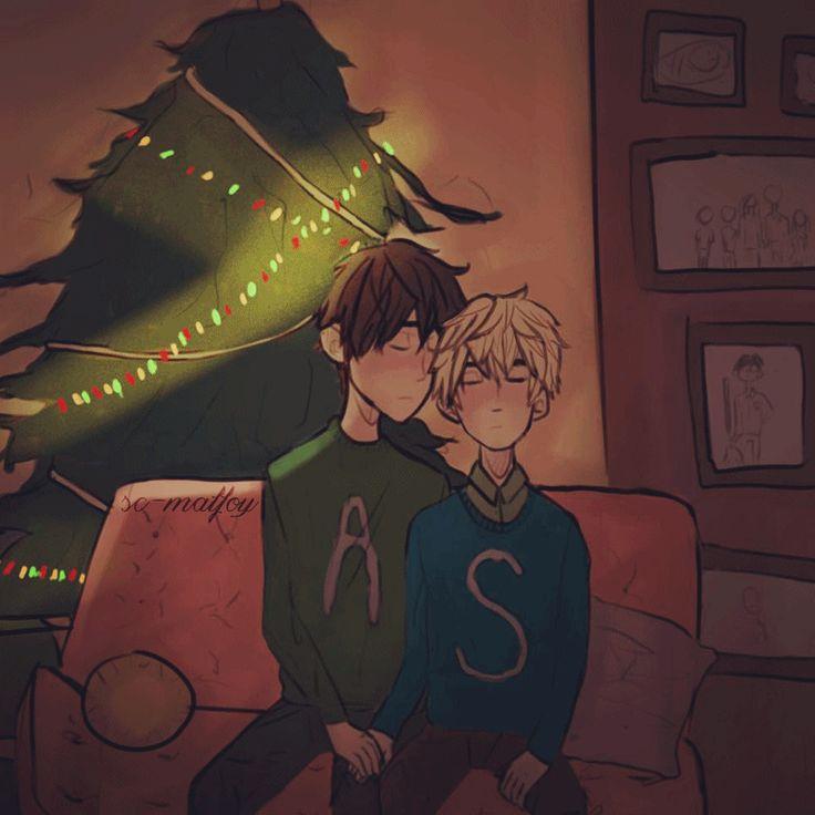 Scorpius and Albus, spending Christmas together - Scorbus