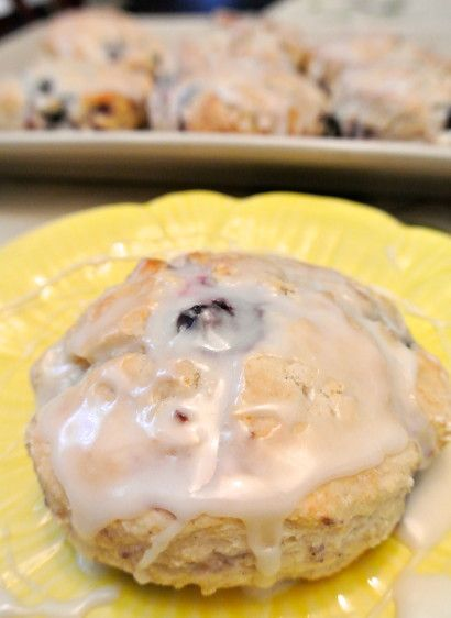 Blueberry Biscuits with Lemon Glaze | Tasty Kitchen: A Happy Recipe Community!