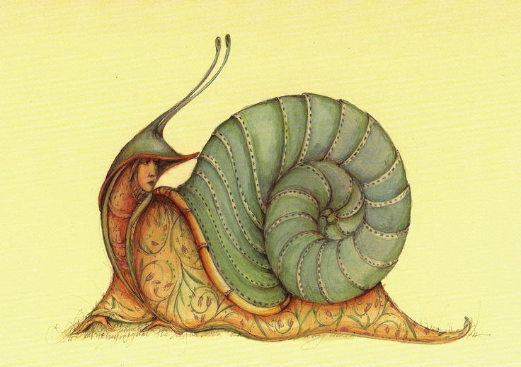 Snail art by Patience Brewster