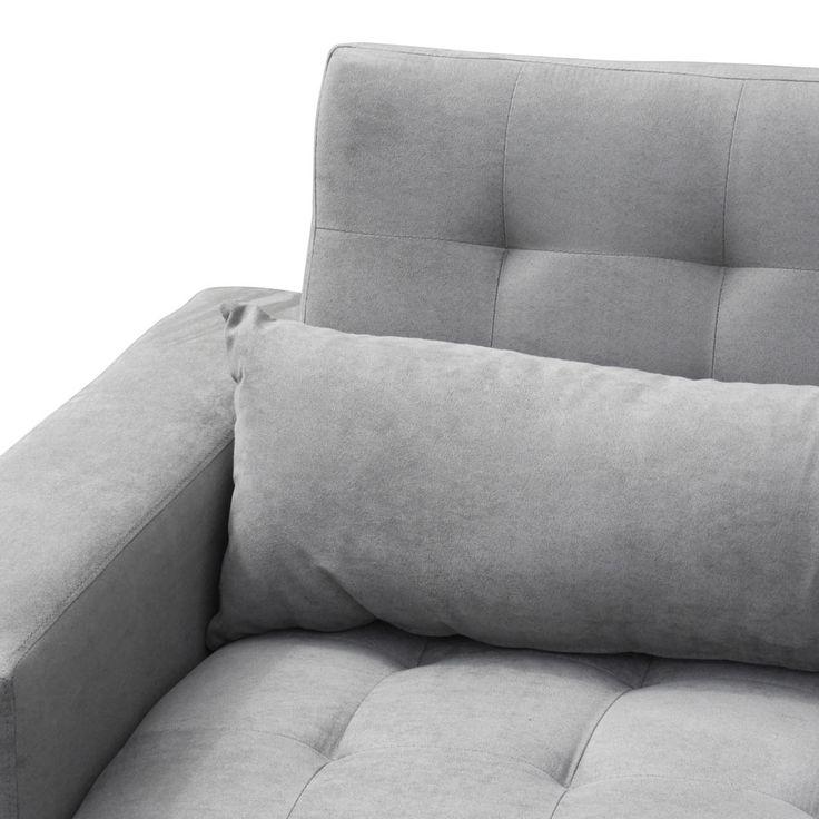 Divano letto 2 3 posti con schienale reclinabile e cuscini
