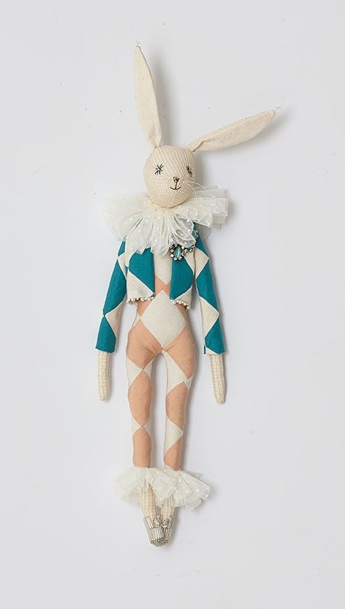 Spring Harlequin Hare by Alice Mary Lynch Doll Maker