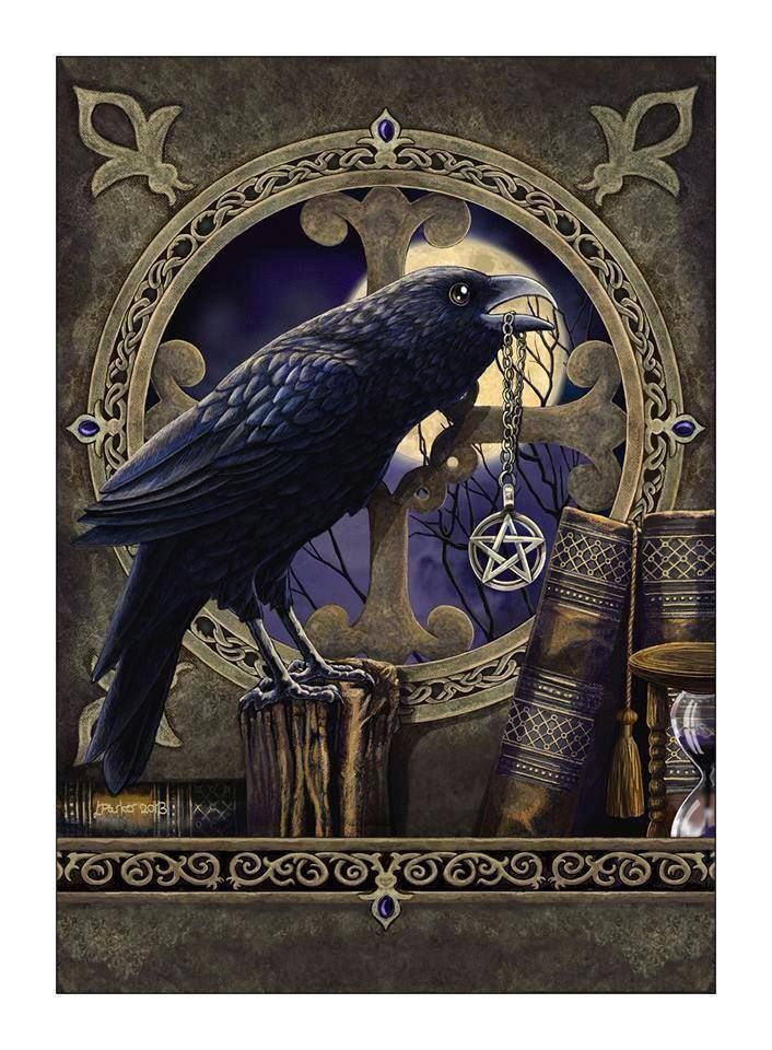Crow and Pentagram! The Magickal Crow! Pinterest Crows