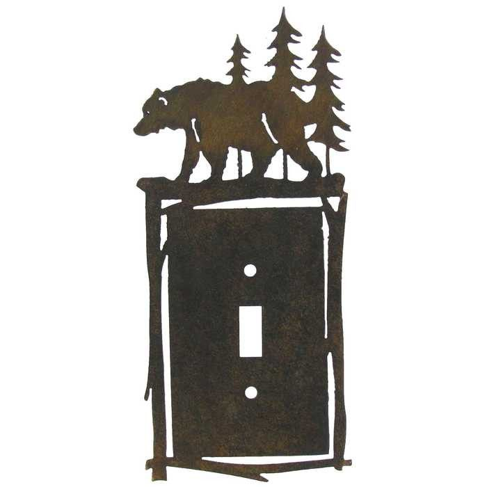 Laser Cut Metal Bear Switch Plate Cover Metals Products