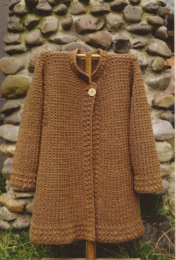 October Coat Oat Couture Crochet Pattern PH603 6 sizes