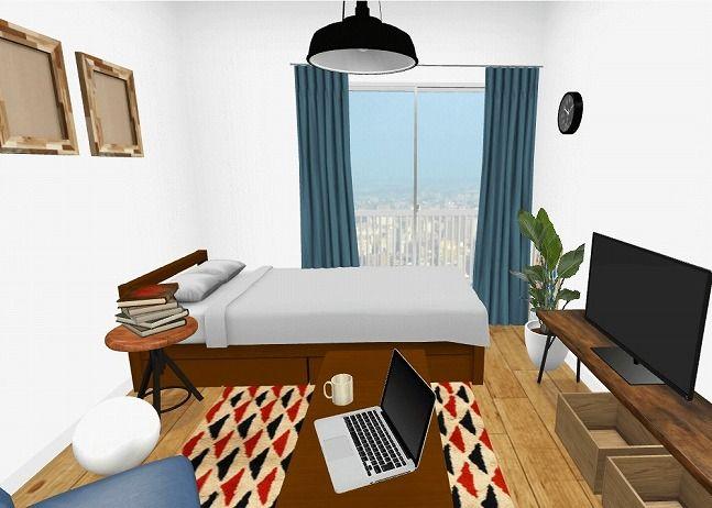 6畳1kの一人暮らしの部屋 家具やインテリアのレイアウトとアイテム別のポイント インテリア 部屋 おしゃれ 6畳 インテリア