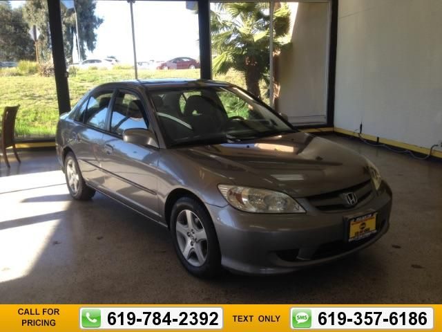 2005 Honda Civic EX Sedan AT W/ Front Side Airbags 124k Miles Call For Price