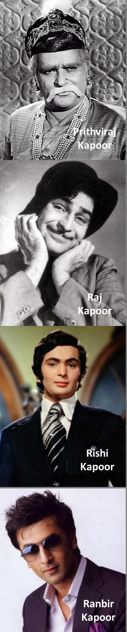 The 4 generations of Kapoor family #100YearsOfBollywood
