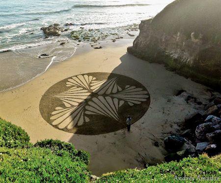 Sand Drawings - sort of Sanibelle style