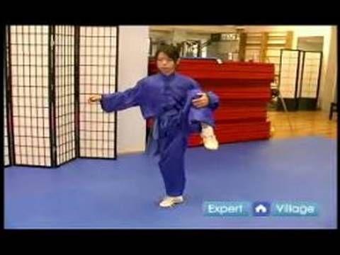 Beginner Wushu Techniques : How to Do the Wushu Cher Tsuai Side Kick - YouTube
