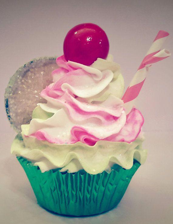 Cherry Limeade Fake Cupcake Kitchen Cupcake by FakeCupcakeShop