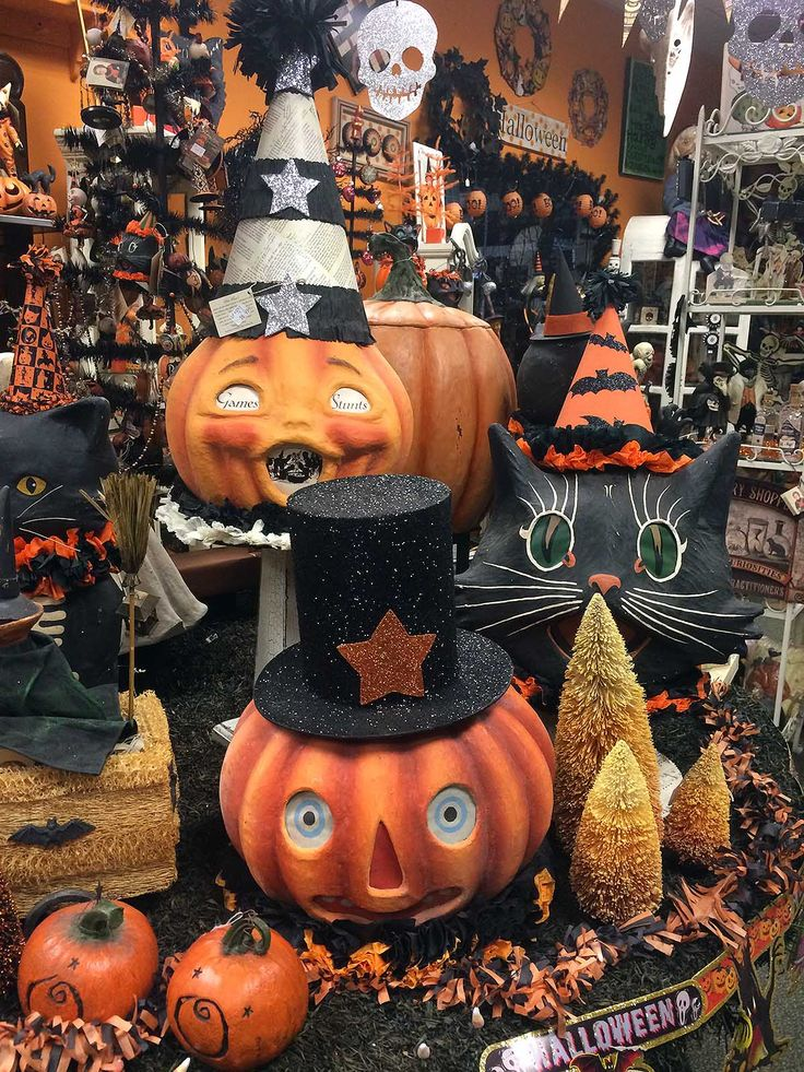 lots of halloween faces - Halloween Decorations Store