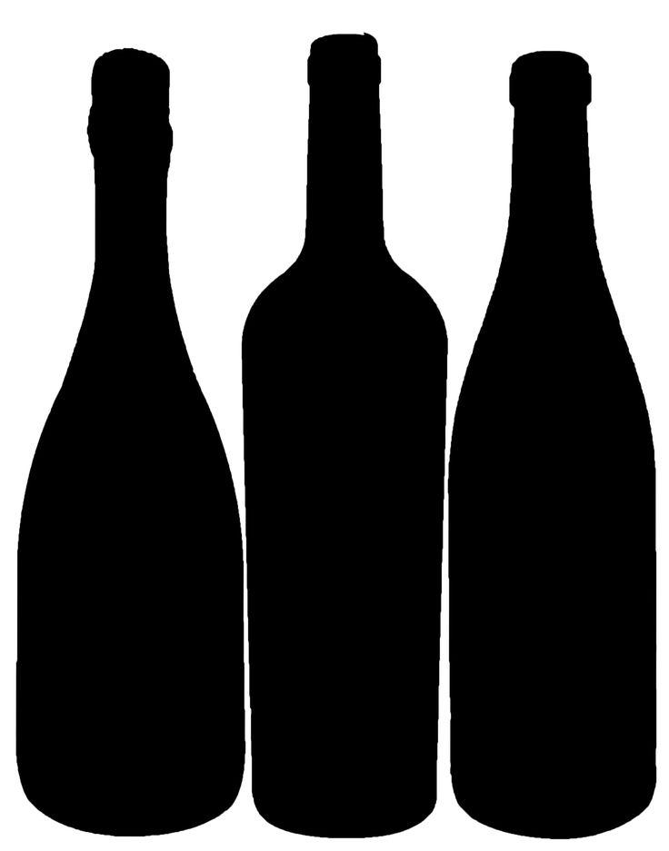 Bottle Silhouette Wine Bottle Images Wine Bottle Decor Silhouette