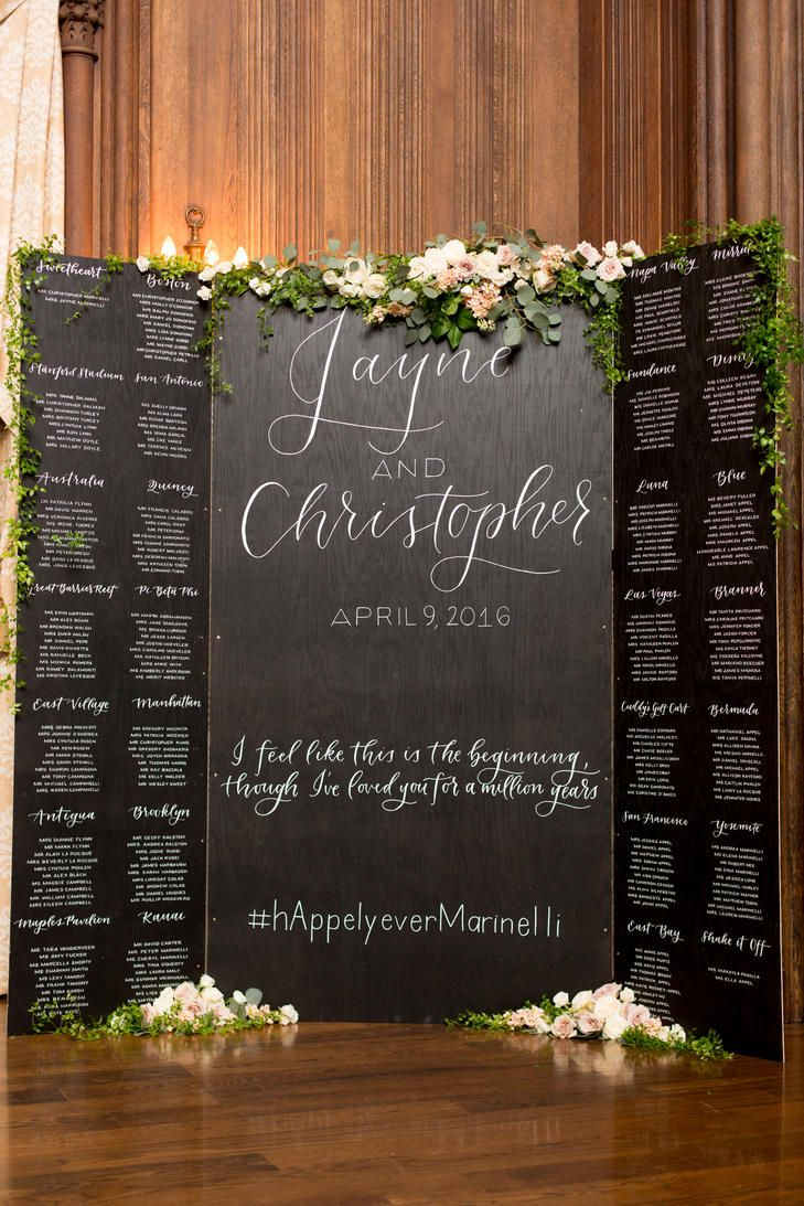 Large Calligraphed Seating Chart