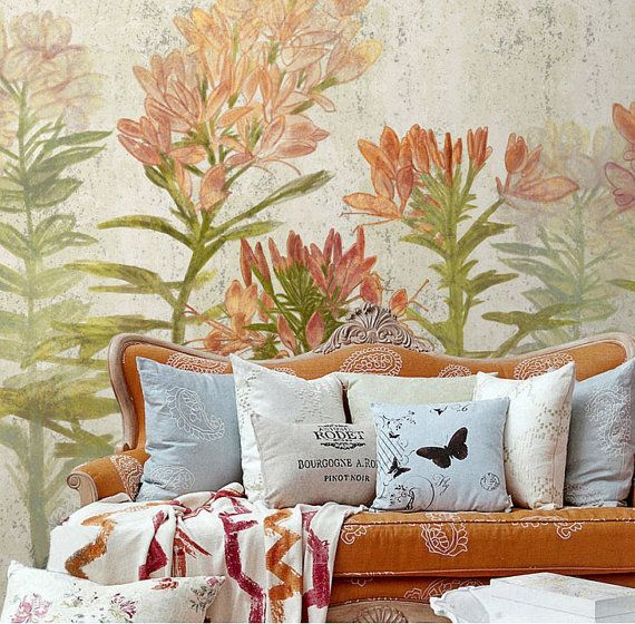 Hey, I found this really awesome Etsy listing at https://www.etsy.com/listing/201083232/55-x-35-spring-floral-wallpaper-art