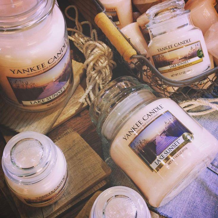 スタッフおすすめの新しい香りが届きました #kameyamacandlehouse #カメヤマキャンドルハウス#cha#青山#candle#キャンドル#yankeecandle#ヤンキーキャンドル#new#lake#sunset#夕日#湖#relax#アロマキャンドル#癒し#香り#musk#ムスク#interior#インテリア#gift#ギフト#glamping#alfresco