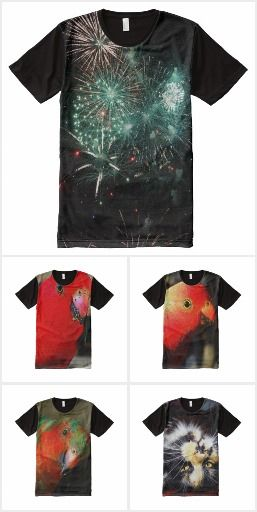 All over print T-shirts based on photos of wildlife and places on the Gold Coast in Queensland, Australia.
