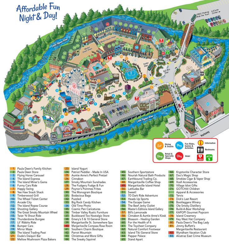 Island Map - The Island at Pigeon Forge