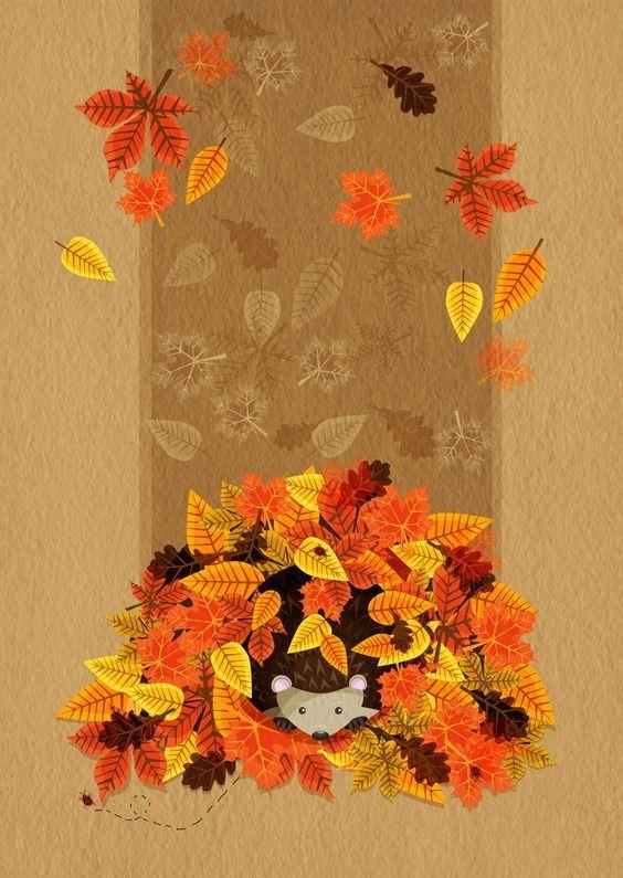 Осенние картинки своими руками из бумаги