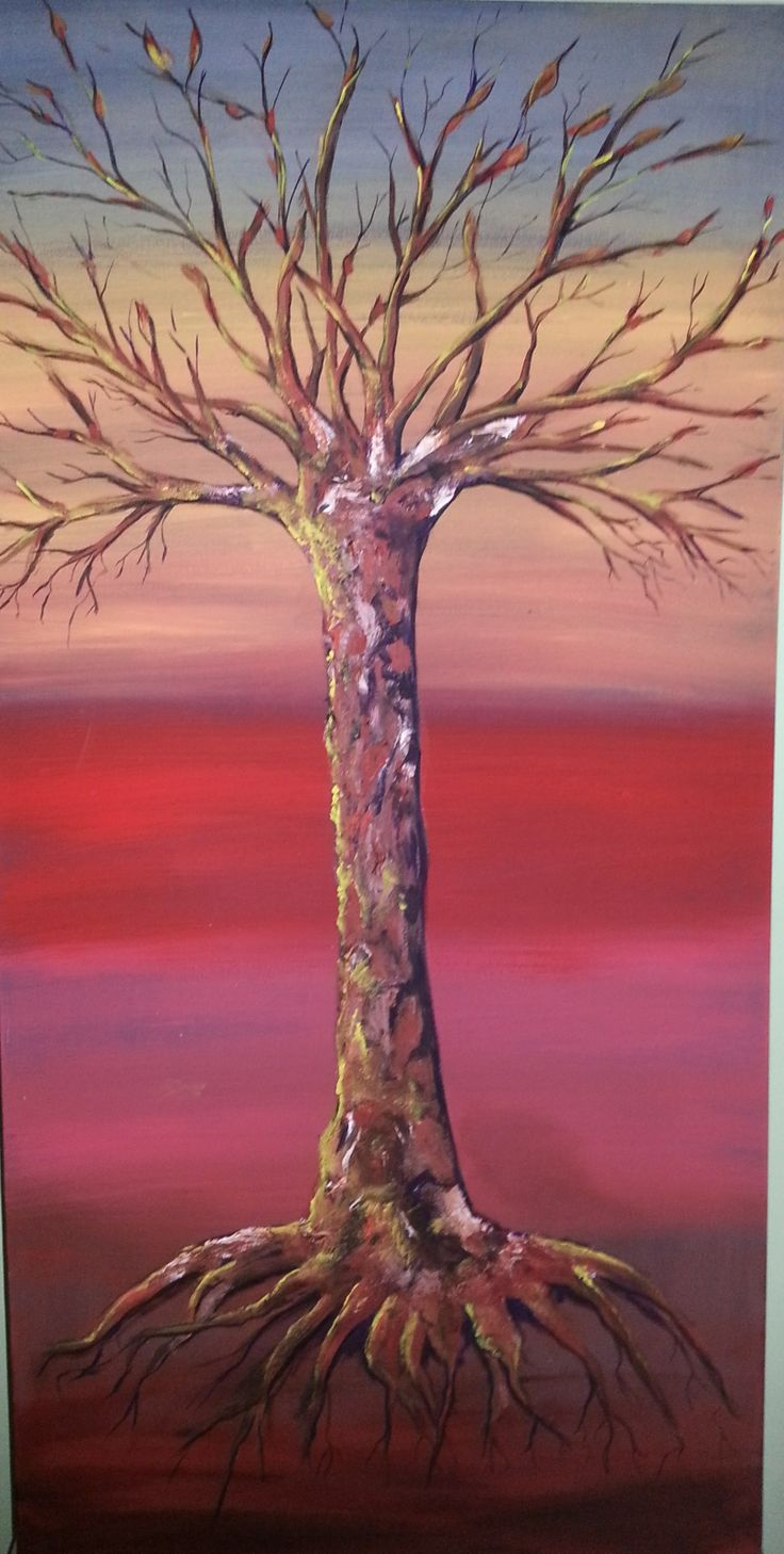 """""""Tree Of Life""""  This is the first in a series of tree designs that I am in the process of creating. Original acrylic painting on canvas"""