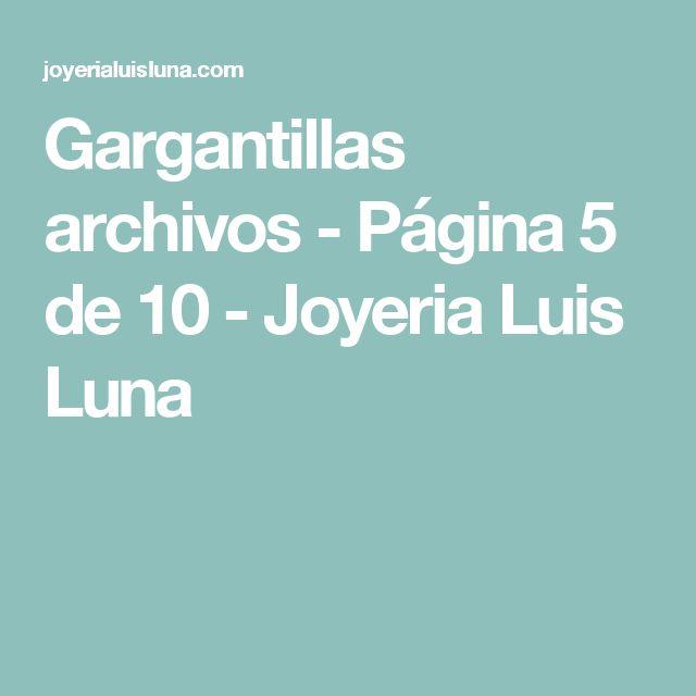 Gargantillas archivos - Página 5 de 10 - Joyeria Luis Luna