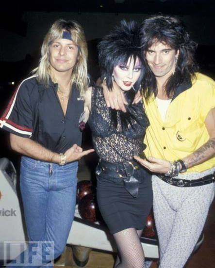 Vince Neil, Elvira and Tommy Lee