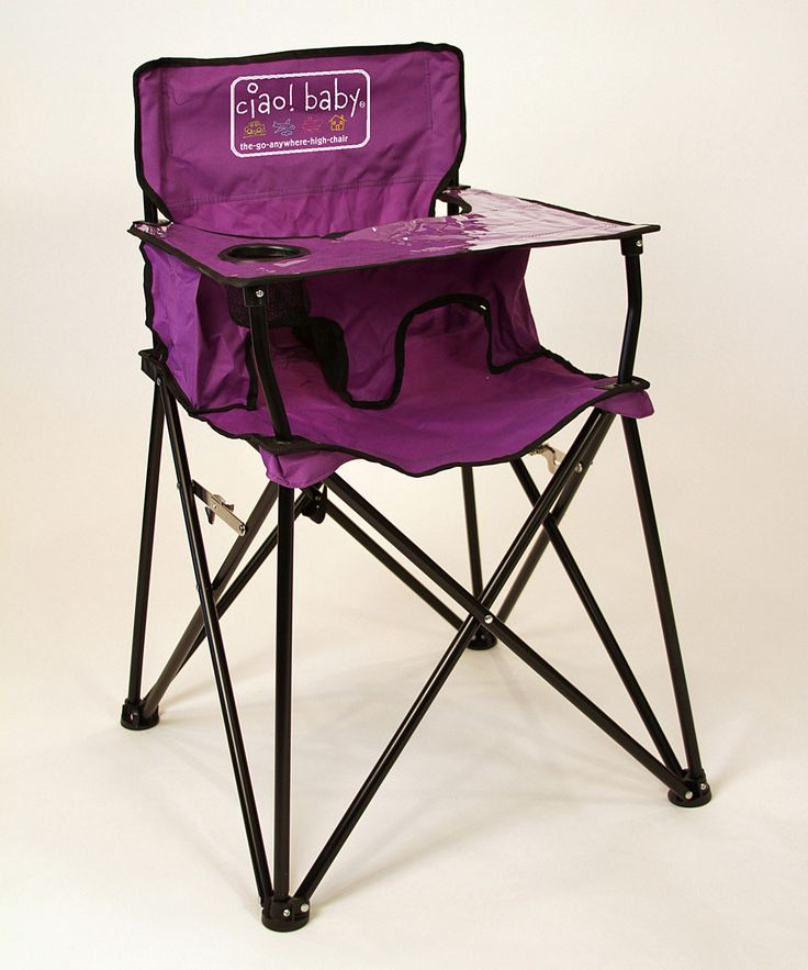 Purple High Chair - it's just like a camping chair!