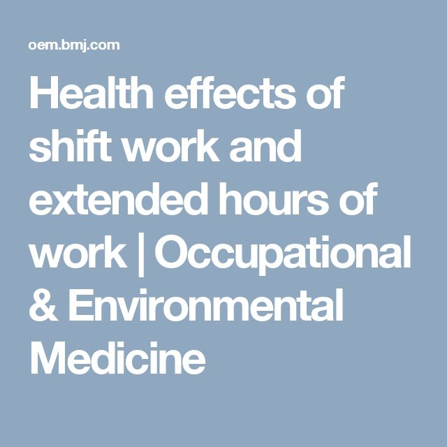 health effects of working nights Working while the rest of the world is sleeping  visit time health  the nurses were an ideal group for studying the effects of rotating night.