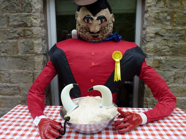 This year saw plenty of comic book characters including this one of Desperate Dan and his cow pie.