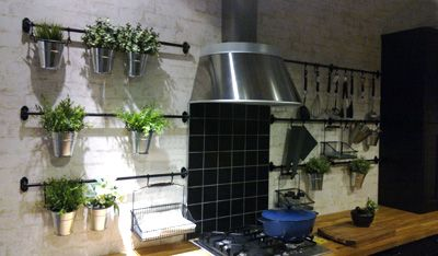 Indoor Kitchen Greenhouse Vertical Herb Garden On Wall