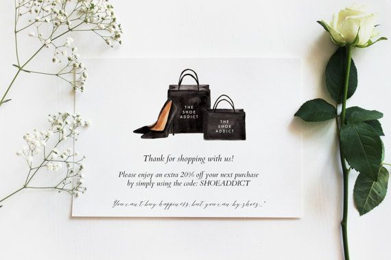 Personalized Watercolor Shopping Bags & Heels Illustration by EllePStudio on Etsy Never pay for custom artwork again! You can know make your brand stand out by purchasing these gorgeous illustrations and adding your store name to them! You can use the illustration for business cards, invitations, thank you cards (to make your packaging all that more special!) The options are ENDLESS!!