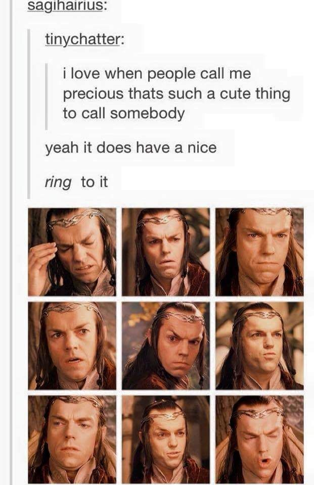 When they made a pun so good that Elrond couldn't even handle it.