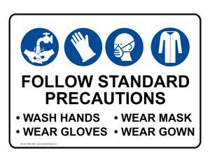 PPE: Follow Standard Precautions Wash Hands Wear Gloves Wear Mask ...